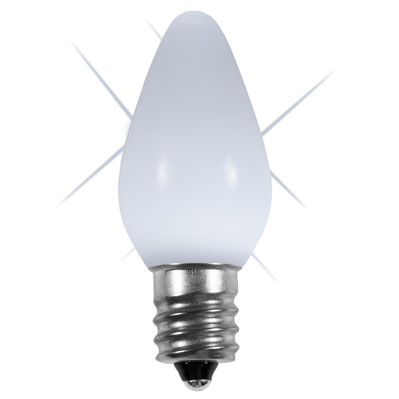 C7 Led Bulb >> C7 120v Twinkle Cool White Led Bulbs Wintergreen Corporation