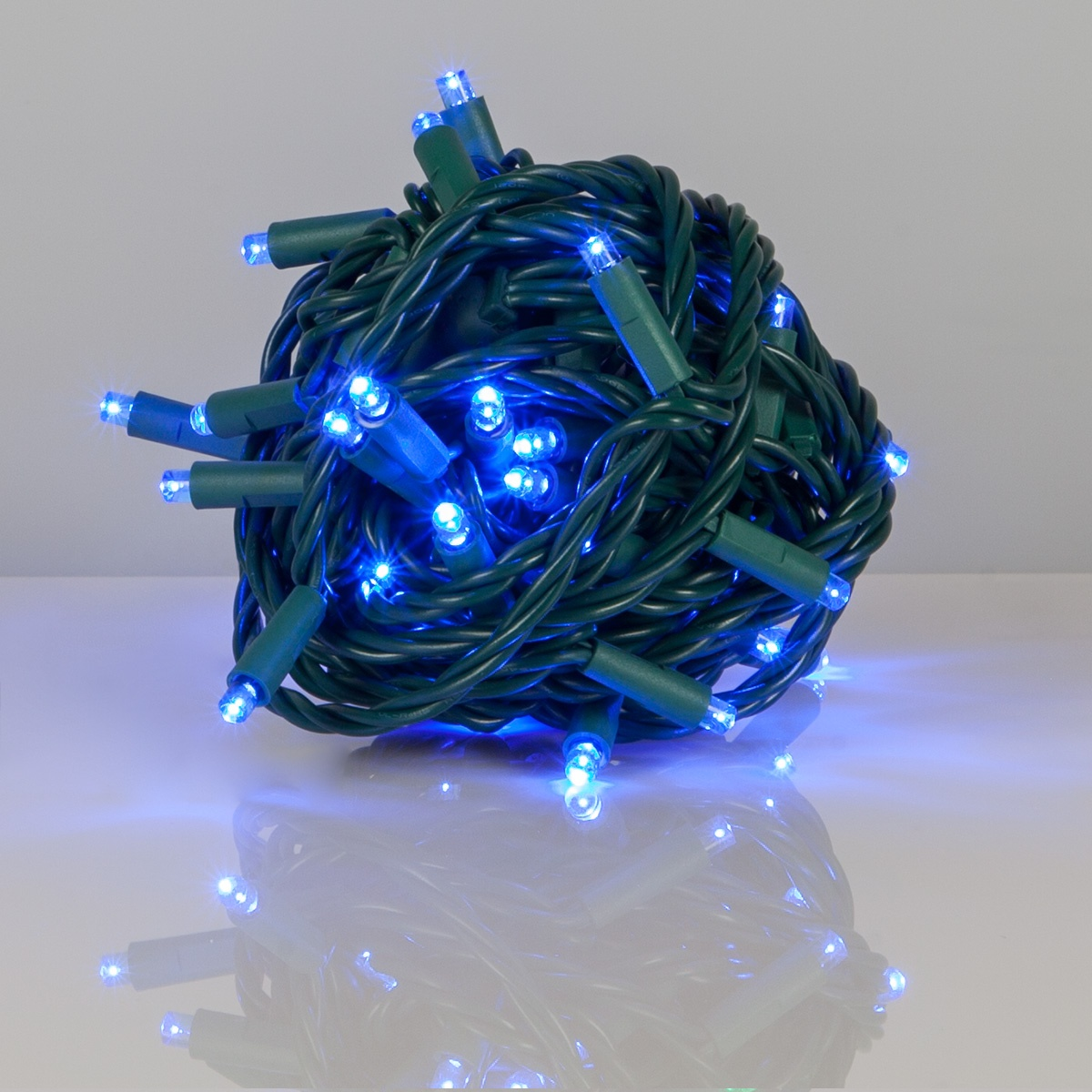 Christmas Tree Shop Connecticut: Kringle Traditions 5mm Blue LED Christmas Lights, Green